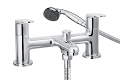 cascade spiral bath shower mixer tap - (5 years parts only), 001.21913.3